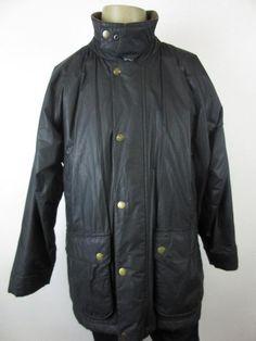 Le Frog Wax Coat Black Corduroy Collar Loose Fit Medium 90% Wax Cotton cj54    eBay