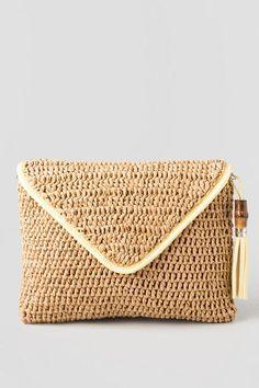 St. Croix straw clutch - Francesca's