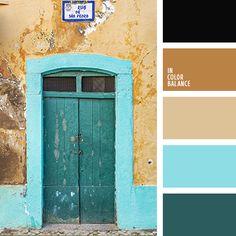 голубой, горчичный, зелено-синий, изумрудный, оттенки коричневого, оттенки рыже-коричневого, песочный, почти-черный, рыже-коричневый, теплый коричневый, цвет верблюжьей шерсти, цвет морской воды, яркий голубой.