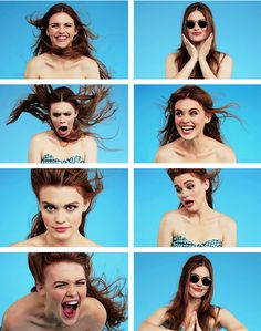 Holland Roden (Lydia Martin) behind the scenes of Teen Wolf.