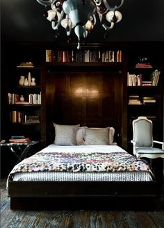 Some people want their bedrooms to be light, bright spaces — others not so much. I can't help being drawn to these beautiful dark bedrooms. They feel like cozy, warm cocoons for sleeping in — and what could be better than that?