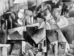 Albert Gleizes, 1912, Landschaft bei Paris, Paysage près de paris, Paysage de Courbevoie, oil on canvas, 72.8 x 87.1 cm, missing from Hannover since 1937 - Albert Gleizes - Wikipedia, the free encyclopedia