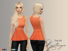 Nastas`ya: Blouse with basques 04 • Sims 4 Downloads