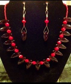 Red passion  Necklace Set by BranstoneMagicMaster on Etsy, $35.00