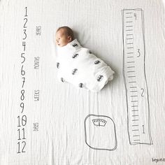Couverture mensuelle pour b/éb/é Milestone Fashion Print Baby Photography Prop Photo Blanket