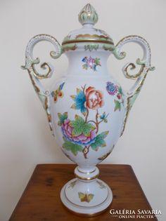 36 cm magas Viktória mintás serlegváza Tea Pots, Tableware, Dinnerware, Tablewares, Tea Pot, Dishes, Place Settings, Tea Kettles