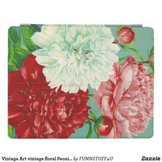 Shop Vintage Art vintage floral Peonies Print iPad Smart Cover created by Personalize it with photos & text or purchase as is!