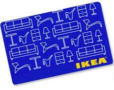IKEA gift card - te når eg og Anders flytte te sommaren