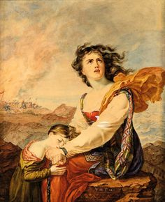 Suzanne Elisabeth Eynard (1775-1844)-Η καταστροφή των Ψαρών Greek Independence, Greek History, Greece, Artwork, Painting, Greece Country, Work Of Art, Painting Art, Paintings