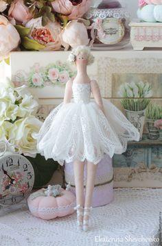 Купить Балерина -кукла в стиле Тильда - белый, балерина, тильда, тильда кукла, кукла Тильда
