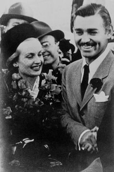 Carol Lombard & husband Clark Gable.They stayed in the house of a friend of mine while Gable was there to hunt pheasants (many years before she owned the home).