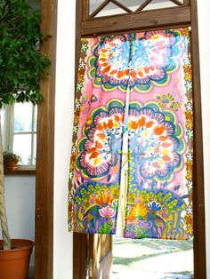 Colorful door curtain