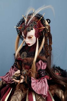 Ooak Dolls, Art Dolls, Manado, Human Base, Dark Spirit, Anime Figurines, Polymer Clay Dolls, Photo Makeup, Doll Tutorial