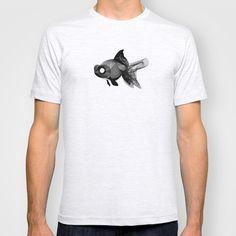 Black Moor Moiré T-shirt by giuditta matteucci - $18.00