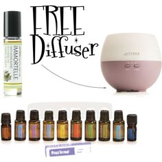 """Free Doterra Diffuser with Home Essentials Kit"" want a FREE diffuser and Immortelle??? Ordering the Home Essentials Kit through www.mydoterra.com/lizzybrookes in September 2014 or email lizzyloveshealth@gmail.com to get more details!!!!"