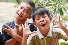 Our lovely students being cheeky and funny! #vpbali #fun #childrenofbali #kids