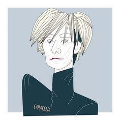 Andy Warhol illustration 👨🏻🎨🍌: #artist #illustrator #filmaker #polemico pero sobretodo crucial en el #nacimiento del #popart . #objetivo : Declarar que en el futuro todo el mundo será famoso durante 15 minutos. • • #caratelia #warhol #portrait #illustration #illustrationoftheday #nyc #graphicdesign #graphicdesigner#basquiat #jeanmichelbasquiat