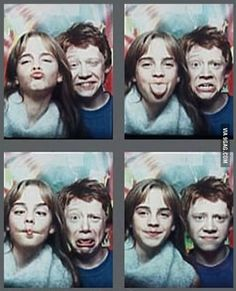 Harry Potter Emma Watson and Rupert Grint