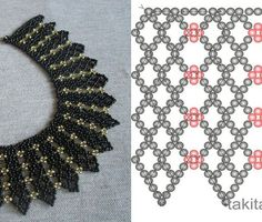 Best Seed Bead Jewelry 2017 Netting schema from Beads Magic Seed Bead Tutorials Diy Necklace Patterns, Seed Bead Patterns, Beaded Bracelet Patterns, Beading Patterns, Beaded Jewelry Designs, Bead Jewellery, Seed Bead Jewelry, Diy Jewelry, Beaded Jewelry