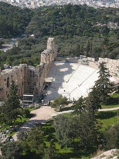 Athènes - Odéon d'Hérode Atticus vu de l'Acropole