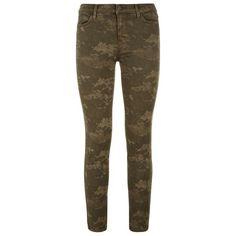 J Brand Photo Ready Camo Cropped Skinny Jean found on Polyvore