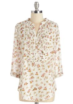 As Far as Chime Concerned Top in Floral, @ModCloth