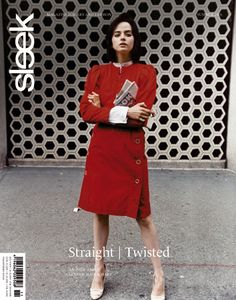 SLEEK Magazine issue 11 | Photographer: Melodie McDaniel  #sleek11 #reddress #sleekmag #magazine #berlin #cover #editorial