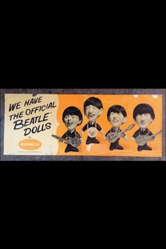Store advertising poster for the Remco Beatles dolls