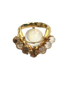 <3 YES - lune ring - unearthen jewellery