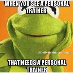 Personal trainers who need personal trainers... http://therunningbug.co.uk/default.aspx?utm_source=Pinterest&utm_medium=Pinterest%20Post&utm_campaign=ad #therunningbug #funny #humour