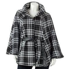 Textured Tweed Cape