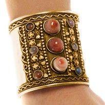 gold carnelian tribal cuff~