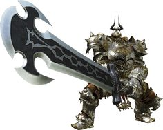 View an image titled 'Dullahan Render' in our Final Fantasy XIV: A Realm Reborn art gallery featuring official character designs, concept art, and promo pictures. Final Fantasy Xiv, Fantasy Rpg, Fantasy Weapons, Character Concept, Character Art, Concept Art, Character Design, Undead Knight, Great Sword
