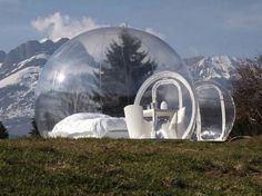 Camping in a bubble tree