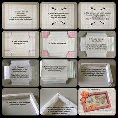 Pictorial directions for making shadow box card