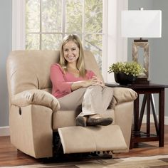 The DuraBlend – Natural Recliner w/ Power by Signature Design by Ashley Furniture from DuraBlend/Match upholstery features DuraBlend upholstery in the seating areas with skillfully matched Polyurethane everywhere else.
