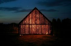Barn / Project Meganom #transparence #bois #architecturesacree