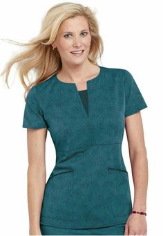 Click Image Above To Buy: Greys Anatomy Signature Series Thea Print Scrub Top. Scrubs Pattern, Stylish Scrubs, Medical Uniforms, Healthcare Uniforms, Nursing Uniforms, Scrubs Uniform, Medical Scrubs, Nursing Scrubs, Womens Scrubs