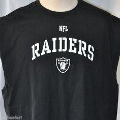 "NFL Oakland Raiders 3XL Muscle Shirt Lics Team Apparel Nation 52"" Silver & Black"