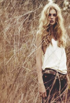 Sigrid Agren/Vogue/belt is fabulous.