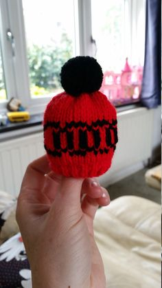 d1625109604 Hand knitted gear knob hat with an interpretation of the Audi logo stitched  in