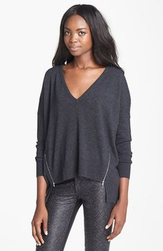 autumn cashmere Zip Detail Cashmere Sweater available at #Nordstrom....that is a cute sweater...love the zippers.