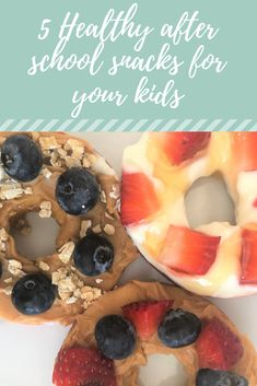 5 Easy, healthy snacks your kids will love after school - The Kids Foodie Easy Snacks For Kids, After School Snacks, Doughnut, Lunch, Breakfast, Desserts, Ideas, Food, Morning Coffee