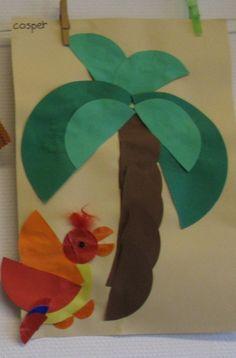 Afbeeldingsresultaat voor papegaai knutselen kleuters