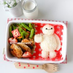 Who doesnt love the adorable Baymax, your personal healthcare companion! Totally heart Big Hero 6 movie! :) Details about the bento on my blog!