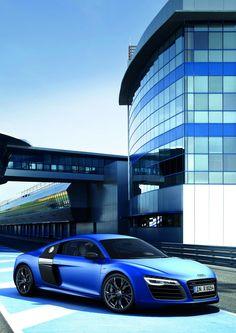 ♂ Blue car 2013 Audi R8 V10 plus  #car #blue #Audi