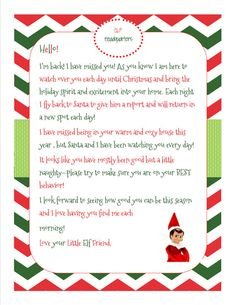 elf on the shelf letters printable 1000 images about on shelf ideas on 10180 | ff878dad4edee845506e6309f4bcafbb