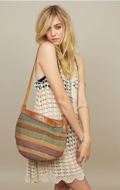 Treasure Blue Straw Bag....love love LOVE this bag!