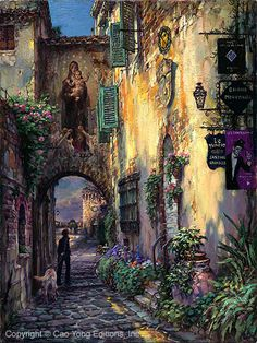 """CAO YONG """"Toward Serenity"""" LIMITED EDITION H/E CANVAS 24"""" by 18"""""""