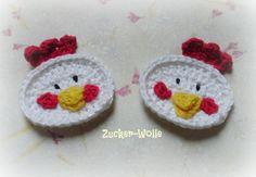 Applikation Hühnchen  von Zucker-Wolle auf DaWanda.com